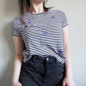 4/$15 Zara Striped T-shirt Stars
